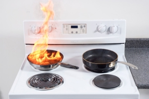 The leading cause of kitchen fires in the USA--unattended cooking