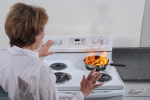 63% of the range or stove top fires beginning with food, occurred when someone was frying (Source: U.S. Consumer Product Safety Commission)