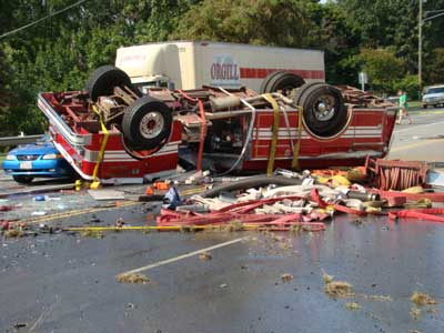 Fire trucks crash into each other while en route to fire in D.C., 8 firefighters injured